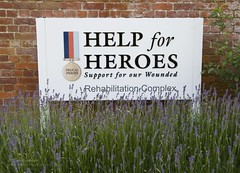 Help for Heroes Sign at the Defence Medical Re...