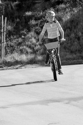 010/365 J on her bike