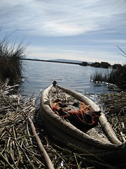 Another canoe (Cosmic Gypo) Tags: island floating bolivia puno