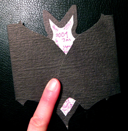 Bat card folded