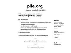 Old pile.org design