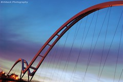 Alien Crossing (~Glen B~) Tags: bridge sunset architecture river dusk millenium stockton tees thornaby