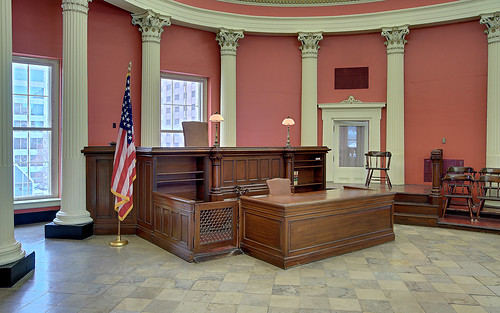Old Courthouse, Jefferson National Expansion Memorial, in Saint Louis, Missouri, USA - Circuit Courtroom #4