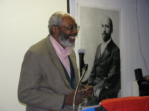"Abayomi Azikiwe, editor of the Pan-African News Wire, addressing the MECAWI forum entitled: ""African-Americans Speak Out for Palestine"" on January 31, 2009. (Photo: Alan Pollock) by Pan-African News Wire File Photos"