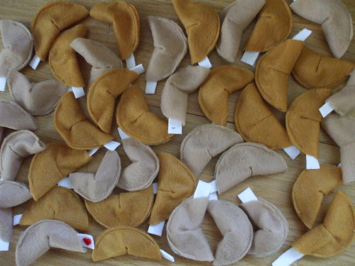 forty felt fortune cookies