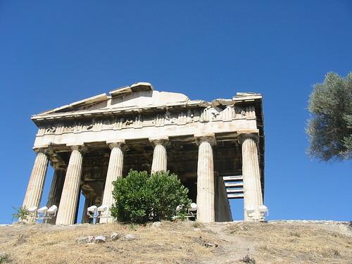 Schitterende tempel van Hephaistos