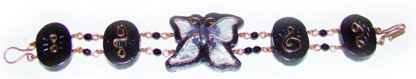 Браслет бабочка
