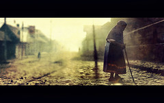 Timeless at Angahuan (Luis Montemayor) Tags: street morning woman texture lady mexico calle mujer amanecer oldlady anciana michoacan angahuan lamanoamiga masterpiecesoflightdark lifeinsevenpages