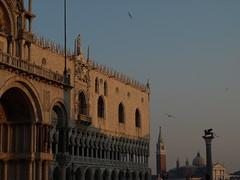 Piazza San Marco al tramonto (ricky guids) Tags: venice square basilica piazza venezia sanmarco palazzoducale sangiorgiomaggiore stmark veneto serenissima wingedlion leonealato lagunaveneta venetianarea