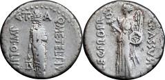 460/4 #0232-38 SCIPIO IMP CRASSVS Lion headed genius of Africa Victory Denarius