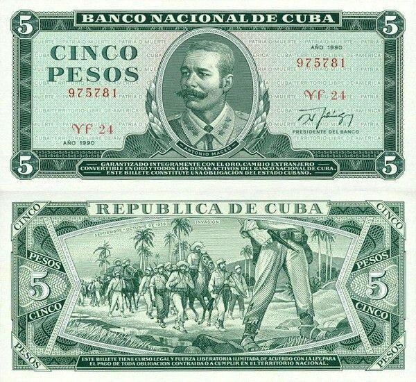 5 pesos Kuba 1984-90