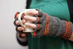 Cozy, Indeed. (Great Danes) Tags: knitting mitts fingerlessmitts knucks