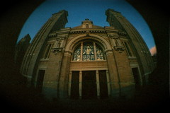 """""""Salvation"""" (Bojorchess) Tags: seattle fish eye church facade lomo cathedral catedral iglesia front entrace bojorchess"""