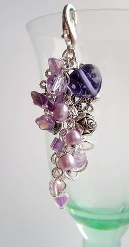 purples purse charm