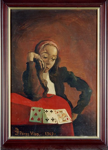 004-Pérez Vigo-oleo-Las tres cartas-1969