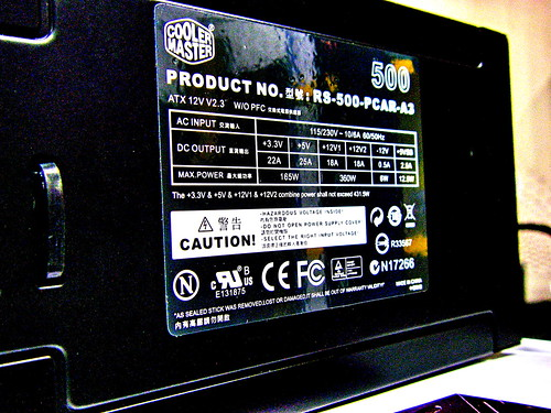Customer's Gaming Rig 07 - Power Supply Unit: Cooler Master eXtreme Power Plus 500W RS-500-PCAR-A3