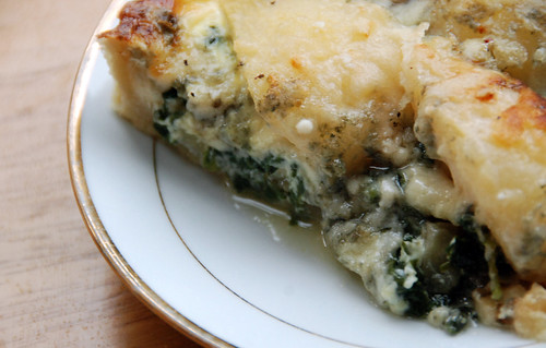Blue Cheese, Spinach & Pear Tart