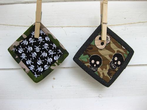 skully & camo coasters
