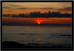 Rare Coastal Sunset (Carplips) Tags: ocean sunset red sky orange oregon dusk serene yachats