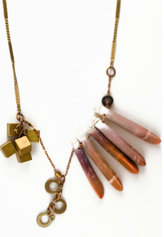 Sword + Fern Necklace