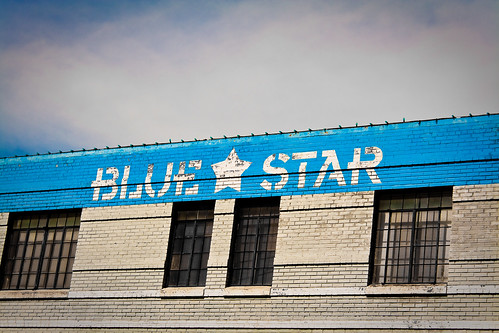 Blue skies at the Blue Star Brewery