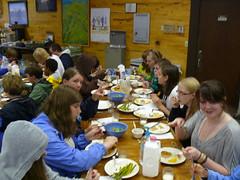 Haus Rostock beim Abendessen