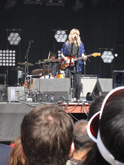 Ladyhawke (russelljsmith) Tags: uk friends england music london festival fun grey lights concert victoriapark europe guitar gig band drinks drunks 2009 lovebox loveboxweekender ladyhawke 77285mm loveboxweekender2009 lovebox2009 lastfm:event=861454