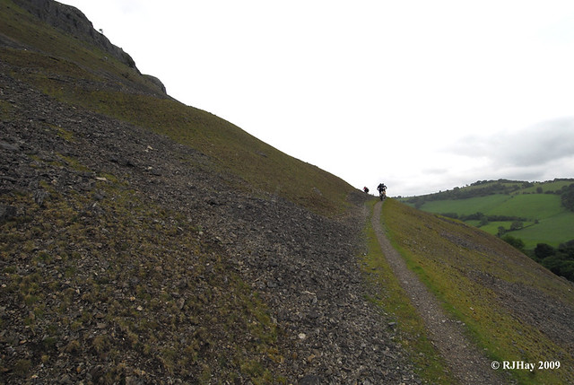 The narrow path left very little room for sharing with mountain bikers