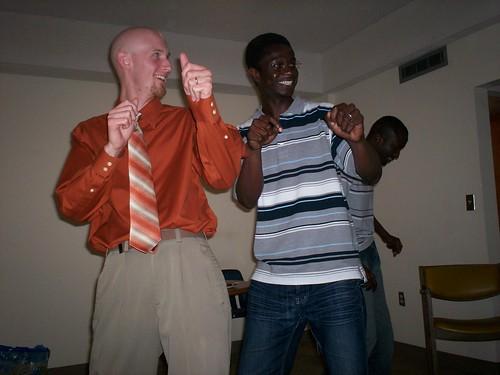 baldman dancing african!