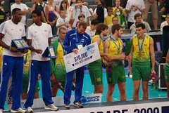 Final, Brazil 3 - Serbia 2 (George M. Groutas) Tags: brazil serbia ceremony award final volleyball belgrade goldmedal 2009 volley beograd fivb worldleague selloutcrowd beogradksaarena httpwwwfivborgenvolleyballcompetitionsworldleague2009 httpwwwfivborgenvolleyballcompetitionsworldleague2009tournwl2009