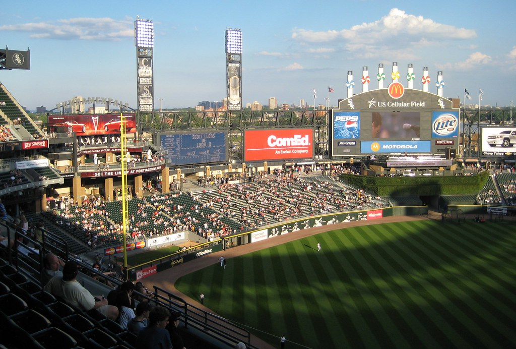 Left Field at US Cellular Field -- Chicago, IL, July 5, 2007