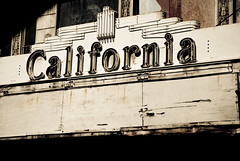 California (MissMae) Tags: california old bw sign vintage movie 1930s closed theater sandiego week32 signofthetimes 5212of2009 savagephotography