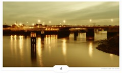 IJzer Bridge (Gert van Duinen) Tags: longexposure nightphotography cityscape belgium digitalart explore frontpage nieuwpoort dutchartist achterhaven gertvanduinen theijzer deganzenpoot explore3on20090812