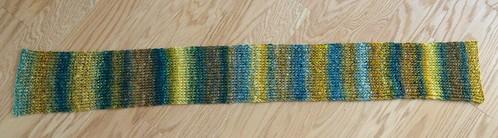 Handspun ribbed scarf 2