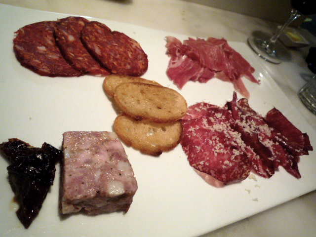 Kitchen charcuterie selection