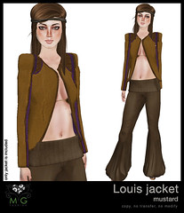 [MG fashion] Louis jacket (mustard)