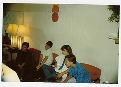 Waiting to promote Stand By Me on Good Morning America in 1986 (WilWheaton) Tags: 80s abc 1980s gma coreyfeldman wilwheaton standbyme riverphoenix wwdn jerryoconnel