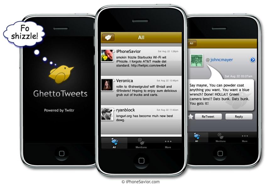 Ghetto Tweet iPhone App