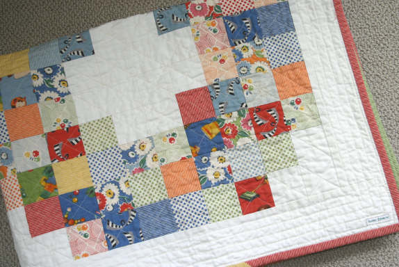 Look and Learn Quilt Folded