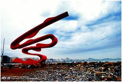 Monumento  Migrao Japonesa - Emissrio Submarino - Santos - 23.08.2009 (Marcel Nobrega - Fotgrafo) Tags: praia brasil mar sopaulo natureza santos fotografia emissariosubmarino encostas marcelnobrega