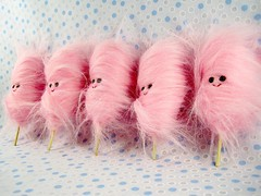 tiny cotton candy (scrumptiousdelight) Tags: pink toy candy plush softie kawaii plushie cottoncandy stuffie plushteam