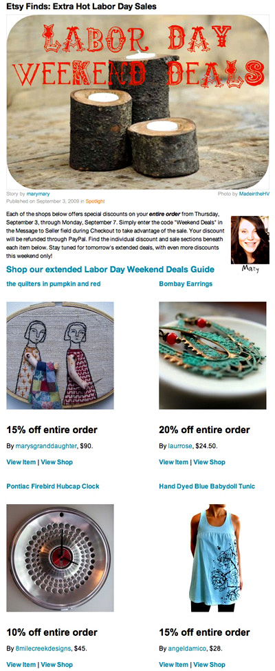 WEEKEND ETSY DEALS!