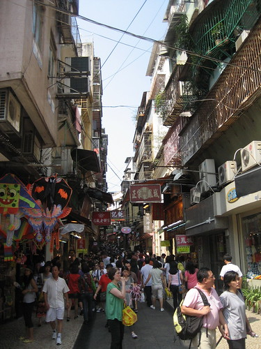 The Cobbled Street of Macau