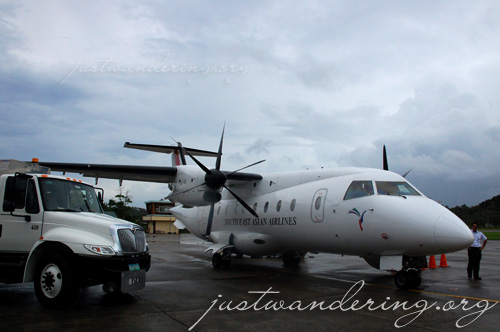 Seair's Dornier 328 at Caticlan airport