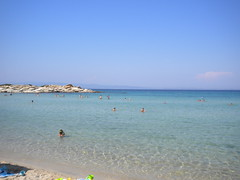 Chalkidiki 2009 - Karydi beach (xontri kai asximi) Tags: trip travel sea beach hellas september greece macedonia grecia tropical vacations grece chalkidiki sithonia vourvourou  xalkidiki    karydi