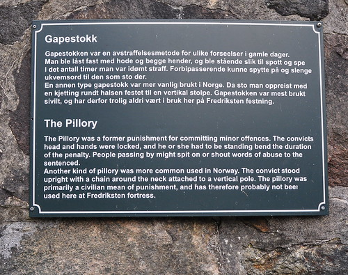 Pillory, description (Fredriksten Fortress, Halden) | Flickr ...