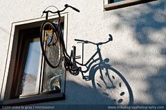 Half A Bike (Mike Le Gray Photography) Tags: shadow bike bicycle germany nikon bonn unusual funnysign bikeshop mikespics strangesign bonngermany d700 mikelegray