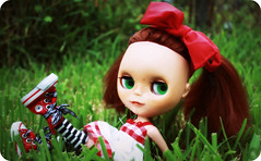 Gracie Spam ;) (*Treppenwitz*) Tags: cute eye work canon toy rebel big gracie doll texas purple head stripes houston progress wip gingham converse freckles pasadena drake custom ashton chucks pinafore pp xsi adg