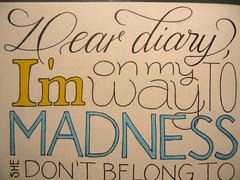 Dear diary, (Marina Chaccur) Tags: music contrast pen typography sketch letters sketchbook styles lettering calligraphy script ligature msica sans letras swash caligrafia lyric estilos ligadura