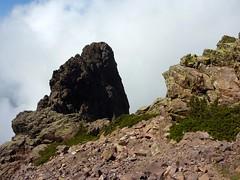 Bocca di Sierra Pianella : Grande Barrière vers le N et Capu Ucellu